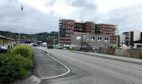 NY FARTSGRENSE: Levanger kommune setter ned fartsgrensen fra 50 km/t til 40 km/t langs Moafjæra Kv 9070.
