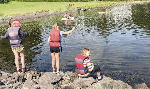 SNEKKESTAD: Været viste seg fra sin beste side under aktivitetene her på Snekkestad. Foto: privat