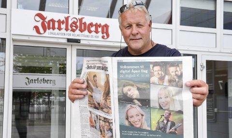 DELER UT BILLETTER: Redaktør Pål Nordby og Jarlsberg deler i samarbeid med NOAH ut 20 billetter til konserten på Langøya lørdag 22. august. Det eneste du trenger for å delta i trekningen, er å sende en e-post til redaksjonen@jarlsbergavis.no. FOTO: BJØRN TORE BRØSKE