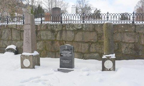 Minnelund: Gravsteinen etter Knut Knutsen er plassert i det som omtales som minnelunden på Kalstad kirkegård.