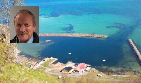 Vestvågøy kommune ved havnesjef Kjell Jakobsen (innfelt) ønsker at Kleivan havn skal forbli offentlig.