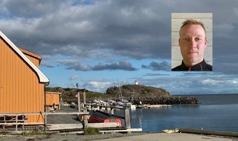 Alex Pedersen (innfelt) har sin fritidsbåt i småbåthavna i Stamsund. I helgen har det vært innbrudd i båten.