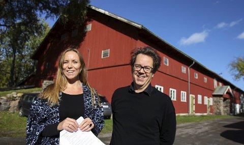 Alby-låven: Punkt Ø, her med Maria Havstam og Dag Aak Sveinar, mener Alby bør prioriteres foran Torderød.
