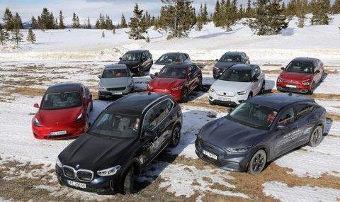 IMPONERER: BMW iX3 manglet bare 18 kilometer for å komme til oppgitt rekkevekke, og forbruket var på imponerende 17 kWh/100 km.
