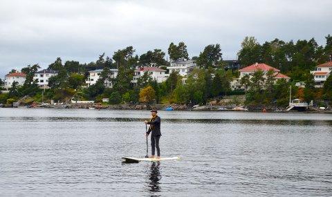 SUP TIL FOLKET: Aksel Kolstad mener Stand Up Paddle bør bli et innslag under bydelsdagene i Nordstrand bydel.