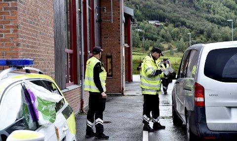 Storkontroll: Totalt ble 351 kjøretøy kontrollert ved trafikkstasjonen på Otta under den to dager lange storkontrollen.