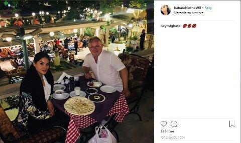 INSTAGRAM: Bahareh Letnes og fiskeriminister Per Sandberg er på ferie i Iran. Hun har lagt ut flere bilder fra turen på sin åpne Instagram-profil. Foto: Skjermdump fra Instagram