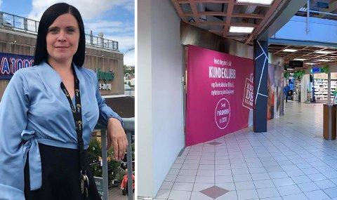 Senterleder Elisabeth Karlsen på Pyramiden kjøpesenter i Tromsdalen går ei spennende tid i møte. Foto: Marius Medby