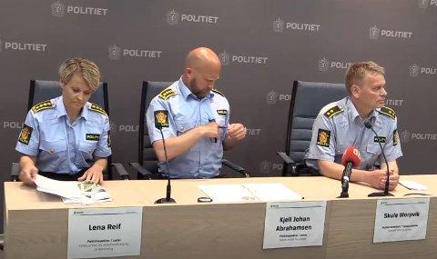 PRESSEKONFERANSE: Politiet i Sør-Øst avholdt pressekonferanse i Tønsberg onsdag.