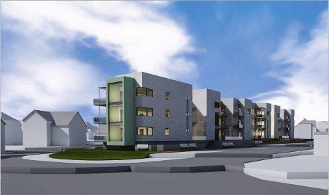 To enheter: LABO og Rose eiendom skal bygge to leilighetsblokker i Nansetgt 65 med plass til 24 leiligheter.Tegninger: PV Arkitekter