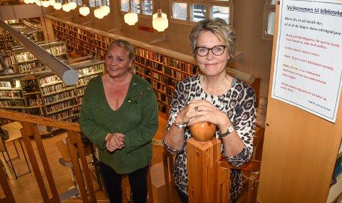 LITT EKSTRA TID: Kultursjef Line M. Rustad (til venstre) har konstituert Tora Jervell som biblioteksjef fram til sommeren 2021.