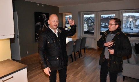 IKKE HELT I MÅL: Espen Strøm (til venstre) i Aktiv Elverum og Carl Røhne i Røhne Eiendom.