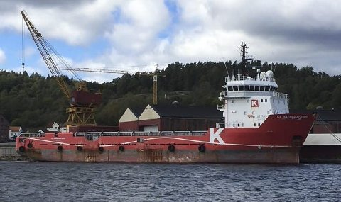 VESTSIDA: I to og et halvt år har KL Arendalfjord ligget i opplag på Vestre brygge på Vestsida. Innen 2020 vil det trolig ha seilt videre.
