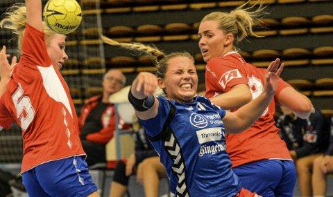 Tøft: Marthe Gruer og HSK fikk det tøft borte mot Halden 2.