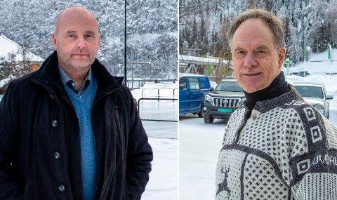 KJEMPER: Kommunene Tinn, her ved ordfører Steinar Bergsland, og Nore og Uvdal, her ved ordfører Jan Gaute Bjerke, kjemper for noe mer enn bare en vinteråpen vei over Imingfjell.