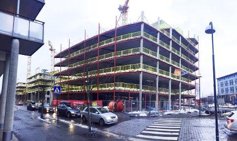 Stort: Portalens kontorbygg er på 17.000 kvadratmeter og står innflyttingsklart sommeren 2017. Så langt har bare BDO og 3M tegnet leiekontrakt.Foto: THOR FREMMERLID