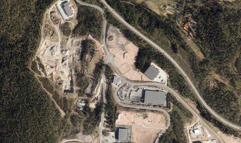 NYBYGG: Et Sandefjord-basert selskap skal sette opp tre lagerbygg i Røyken Nærinspark.