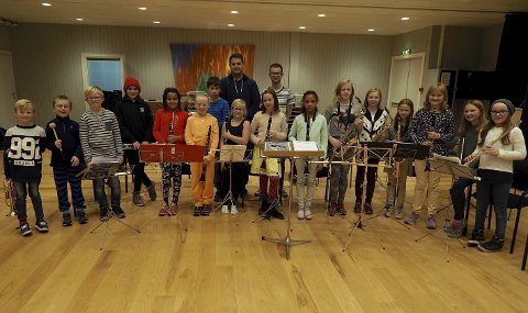 Musikalsk innslag: Sande juniorkorps skal spille på skumringstimen. Foto: Svein-Ivar Pedersen