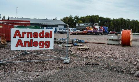 BORGESKOGEN: Arnadal Anlegg har forlatt gården i Arnadal og er nå etablert på Borgeskogen Øst.