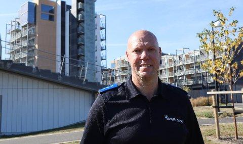 TROPPSJEF: Leif Tore Markman i Sivilforsvaret sier oppdraget på Oslofjord Convention Center har vært ekstra spesielt og rørende for mannskapene.