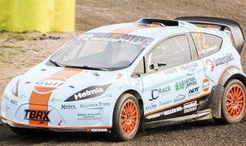 Vant Rally X Nordic: Thomas Bryntesson (20) var helt suveren i den første runden av det nordiske mesterskapet i rallycross i helgen. Førstkommende helg står han på startstreken på den legendariske banen i tyske Hockenheim, når den første VM-runden for RX Lite-klassen går av stabelen.