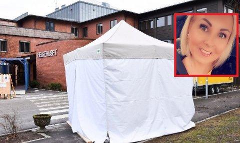 FØLER SEG OVERSETT: Linda Edvardsen (29) mener det virker som at henvendelser som ikke dreier seg om koronaviruset blir nedprioritert. Arkivfoto: Lise Kari Holøs og privat