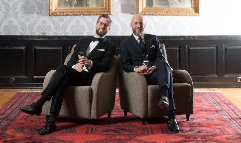 FLERE EVENTS: Bogart-gründerne Vegard Eismann Kjøl (til høyre) og Pål Robert Høisæt kjører flere ulike begivenheter for sine ansatte i løpet av året. – Family-konseptet er en viktig del av hva vi ønsker å være, sier Kjøl.