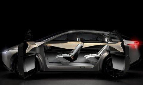 ROMSLIG: Batteriene ligger som vanlig i bunnen av bilen og gir muligheter for svært god plassutnyttelse.