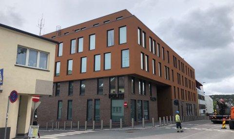 HØYBORG: Politiets nye hovedkvarter med mange arbeidsplasser. Midt i Tønsberg.
