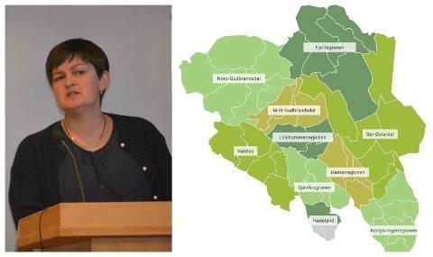 USIKKER: Marit Hougsrud (Sp), ordførar i Sør-Aurdal, er ueinig med Senterpartiet sentralt. Ho vil ikkje nødvendigvis ha ein ny omkamp om fylka, så lenge dei tilsette og innbyggjarane er nøgde.