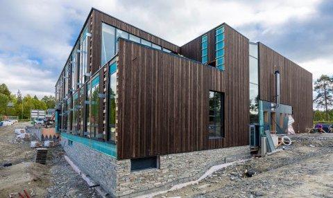 Norsk Helsearkiv på Tynset under bygging. Åpningen er den 4. juni
