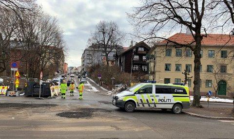 KONFLIKTOMRÅDE: De to siste dagene har politiet vært tilstede i Gyldenløves gate på Frogner for å forsikre seg at det ikke oppstår aksjoner og sjikane.