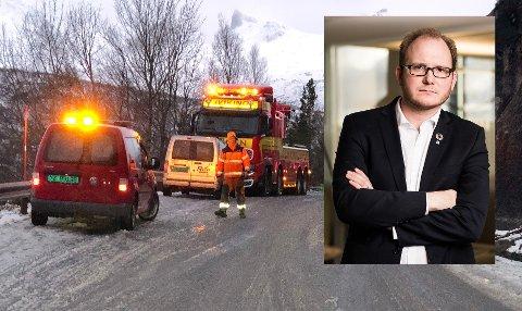 Daniel Bjarmann-Simonsen er tydelig på hva den nye regjeringen bør prioritere inn, spesielt på veinettet.