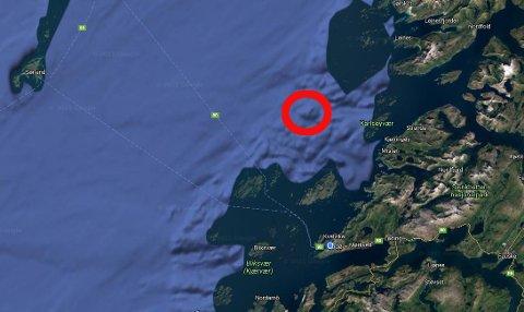 Den omkomne ble funnet ti nautiske mil nordvest av Landegode.