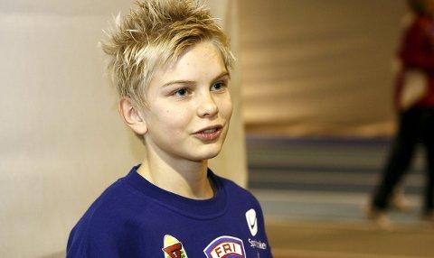 Den gang da: Eirik Dolve i IL FRI for snart åtte år siden, som tolvåring, på stevne i Høiehallen i Fana.