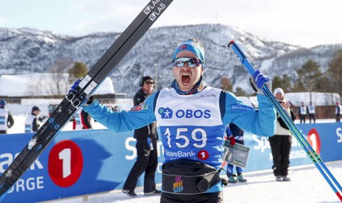 Sjur Røthe avsluttet en tung sesong med seier med NM-femmilen. Vossingen hadde da bevist nok til at han ble tatt ut på langrennslandslaget også kommende sesong. FOTO: NTB Scanpix
