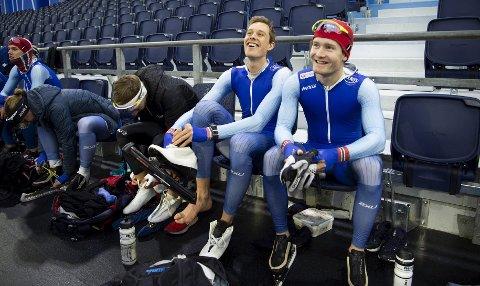 Sindre Henriksen og Sverre Lunde Pedersen var med på rekordhelgen. – Det er spinnville rekorder, spesielt på de korte distansene, sier Lunde Pedersen.