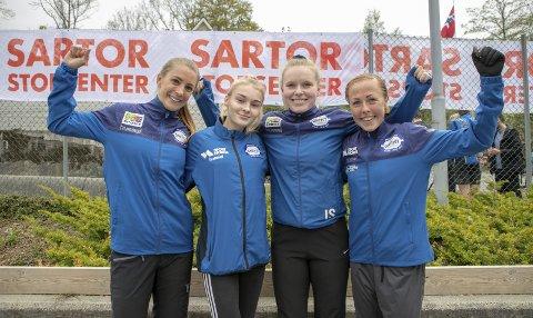 Anne Dolvik, Una Haukenes, Ingrid Sortland og Eli Anne Dvergsdal fra Gneist vant kvinneklassen i Ask-stafetten på tiden 6.11.1, foran Haugesund (+ 0.00.2) og Varegg (+ 0.13.7.).