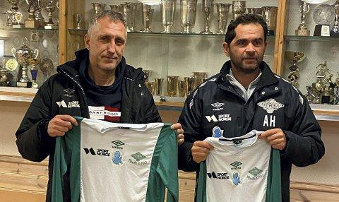 Per Hilmar Nybø og Rune Vindheim er trenere for 5. divisjonslaget Trane.