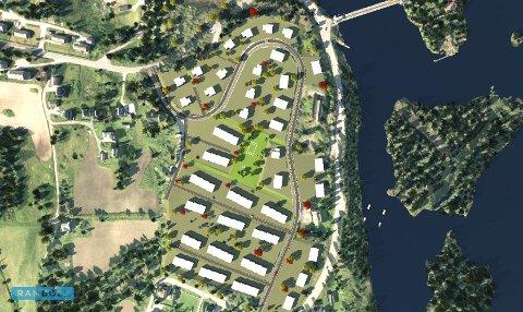 SLIK KAN DET BLI: Denne illustrasjonen viser hvordan området kan bli, når det en gang om fem til ti år er ferdig utbygget.