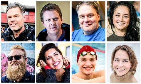 PROFILER: Øverst f.v. Vegard Hansen, Ole Kristian Stoltenberg, Bjørn Petter Ingebretsen, Maria Voss, Eric Ness Christiansen, Dipali Gosain, Andreas Bjørnstad og Cecilie Schilling.