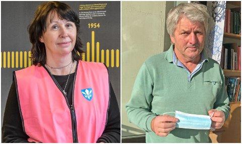 BEKYMRET: Ordfører Knut Kvale og kommuneoverlege Anne Aune har to viktige oppfordringer til innbyggerne i Øvre Eiker: test dere – også ved kun lette symptomer, og unngå å reise til Oslo og omegn.