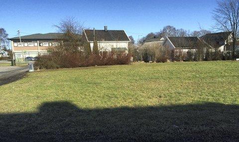 Lekeplass: På dette grøntområdet ved Snippen (se bygget med Kiwi-forretningen i bakgrunnen) blir det plass til å boltre seg i løpet av sommeren. foto: fredrikstad kommune