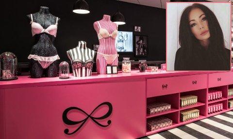 Målet er at den nye undertøysbutikken skal åpne fredag 22. mars. Renate Andrea Olsen (innfelt) blir butikksjef.
