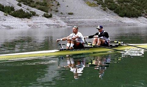 NYTTIG: Olaf Tufte og Kjetil Borch hadde en svært vellykket høydesamling i Livigno.