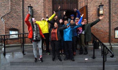 START: Pilegrimsgjengen startet lørdag morgen med gudstjeneste. Foto: Knut Storvik