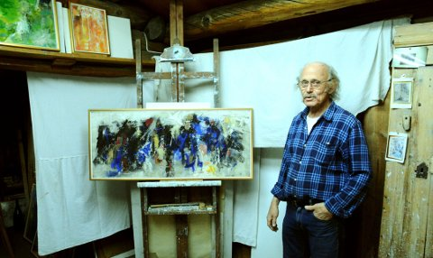 Temabildet til utstillinga Livsveven - lengt og lagnad  viser essensen av dei fire lokale kunstnarane i eitt felles bilde.
