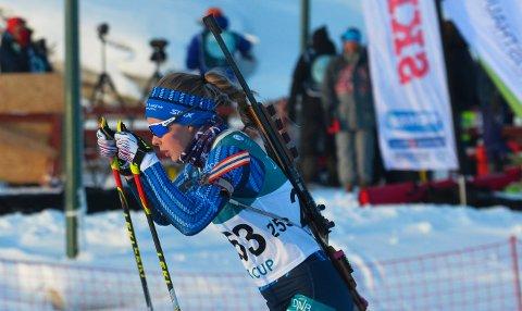 ENDELIG: Ine Skjellum fra SÅS var i perlehumør etter femteplass på sprinten i klasse 20-21 år.