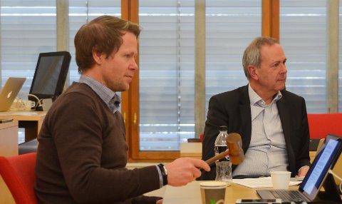 DIALOG: Ordfører Harald Tyrdal og resten av Lunner formannskap møtte rådmann Dag Flacké i forkant av det kommende budsjettarbeidet.