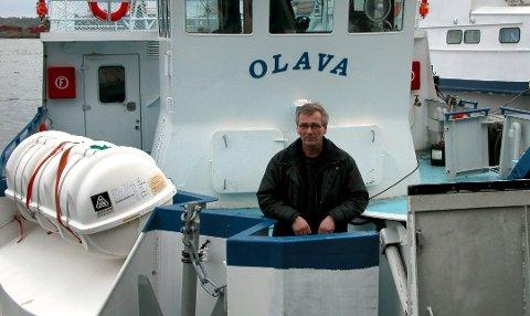 Fornøyd. Kaptein Petter Parmer, her ombord i Hvalerferga Olava, gleder seg over en sterk sommersesong. Arkivfoto: Gunnar Steen Iversen